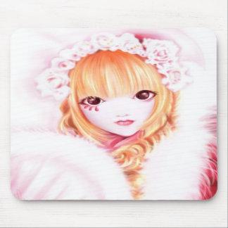 Lolita dulce del gótico tapete de ratón