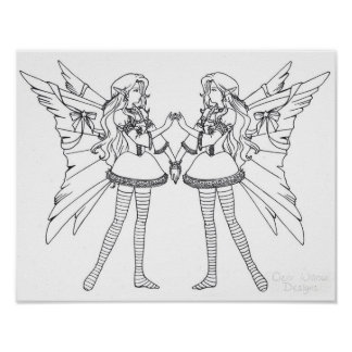 Lolita Faeries Color-Your-Own Posters