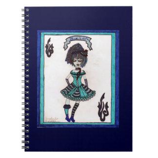 lolita gótico azul libros de apuntes