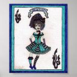 lolita gótico azul posters