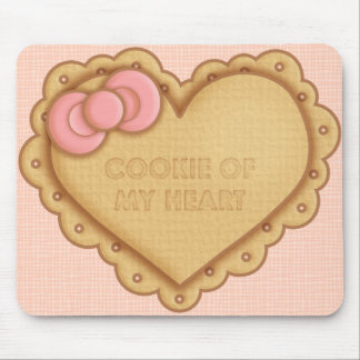 Lolita Heart Biscuit Cookie Mouse Pad