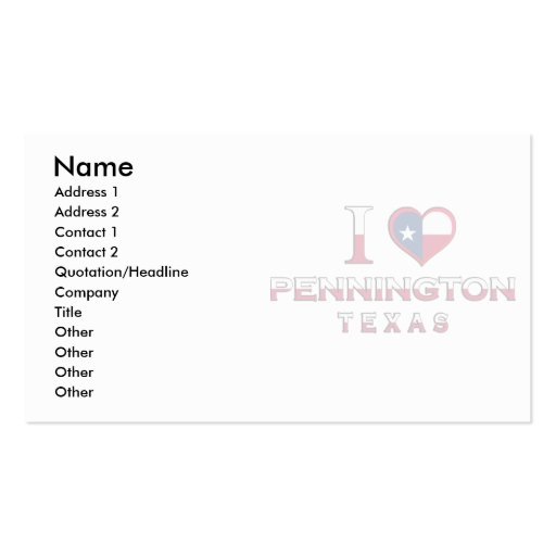 Lolita, Texas Business Card Templates