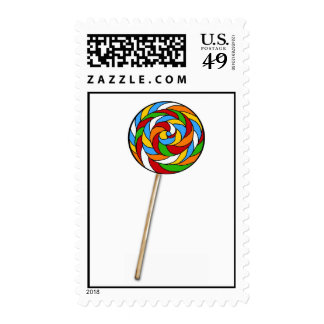 Lolli Lollipop Candy Postage Stamps