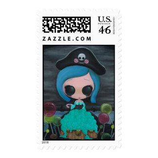 Lollipirate Postage Stamp