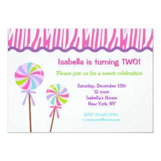 Lollipop Birthday Party Invitations