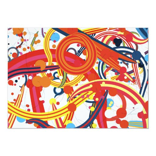 Lollipop Carnival Candy Swirls Colourful fun Card