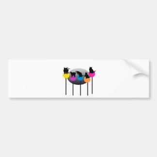 Lollipop Cats Car Bumper Sticker