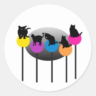 Lollipop Cats Classic Round Sticker
