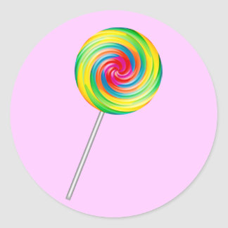 Lollipop Classic Round Sticker