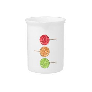 Lollipop colorido jarras