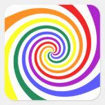 Lollipop del arco iris colcomanias cuadradases