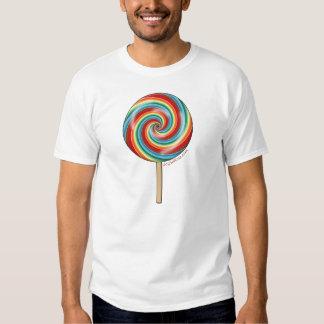 Lollipop del arco iris del chocolate remera