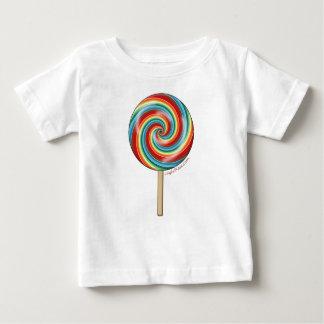Lollipop del arco iris playera de bebé