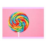 Lollipop del arco iris postal