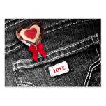 Lollipop del corazón. Etiqueta del regalo del el d