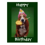 Lollipop del cumpleaños de Basset Hound Postal