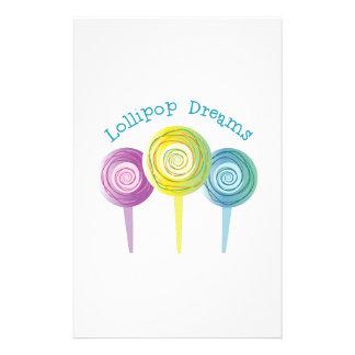 Lollipop Dreams Customized Stationery