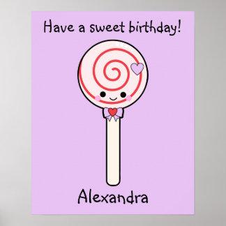 Lollipop dulce del caramelo impresiones