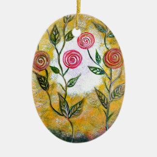 Lollipop Flowers Ceramic Ornament
