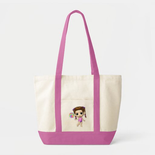 Lollipop Girl Cutie Canvas Bag