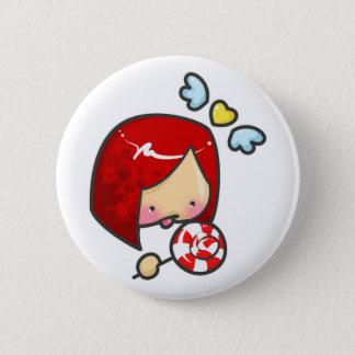 Lollipop Girl Pinback Button