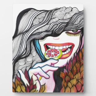 Lollipop Girl Portrait Plaque