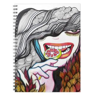 Lollipop Girl Portrait Spiral Notebook