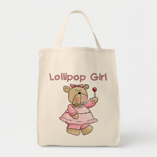 Lollipop Girl Tshirts and Gifts Grocery Tote Bag