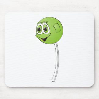 Lollipop Green Apple Cartoon Mouse Pad