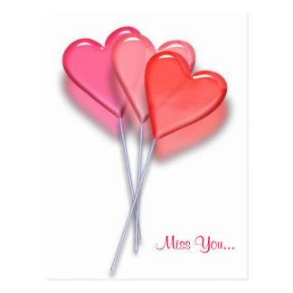 Lollipop Hearts Postcard