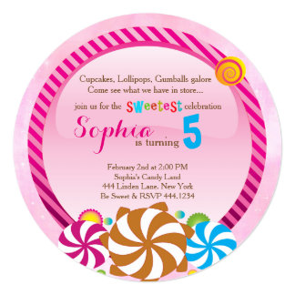 Lollipop Invitation - Candy Land Invitation