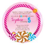 Lollipop Invitation - CandyLand Invitation