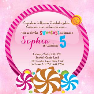 Candyland Party Invitations Zazzle