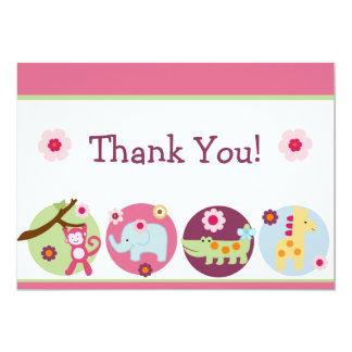Lollipop Jungle Animals Thank You Card