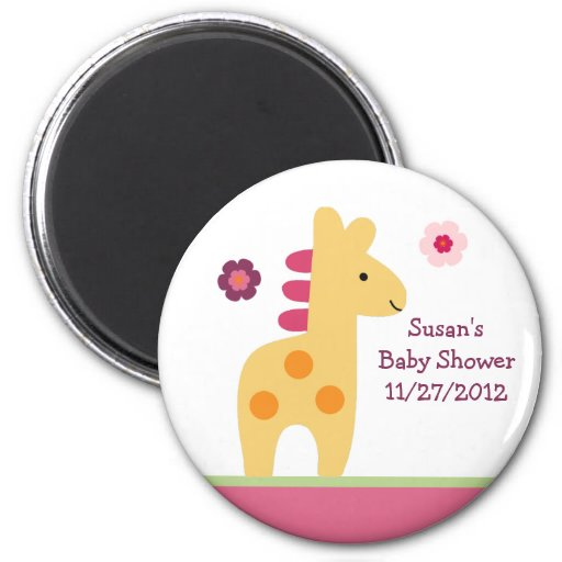 Lollipop Jungle Giraffe Magnet/Keepsake Magnet