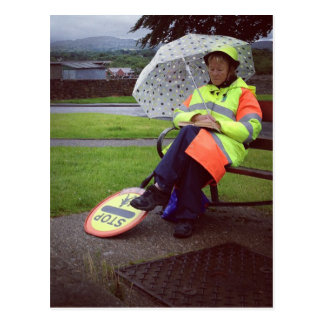 Lollipop Lady Postcard