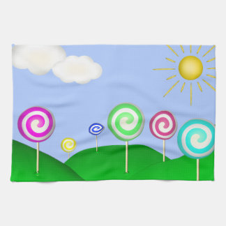 Lollipop land towel