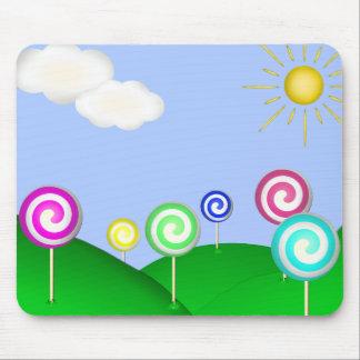 Lollipop land mouse pad