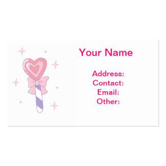 Lollipop lindo del corazón tarjetas de visita
