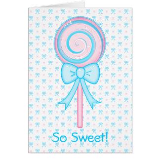 Lollipop lindo felicitaciones