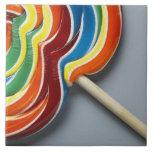 Lollipop multicolor azulejo cuadrado grande