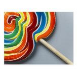 Lollipop multicolor postales