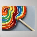 Lollipop multicolor póster