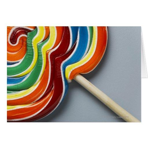 Lollipop multicolor, primer felicitacion