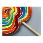 Lollipop multicolor, primer postal