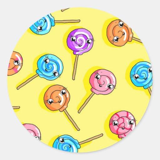Lollipop Pegatina Redonda