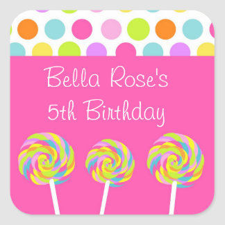 Lollipop Personalized Labels Stickers