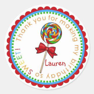 Lollipop primary_edited-1, Lauren de Lolli Pegatina Redonda