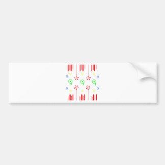 Lollipop red flowers bumper sticker