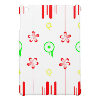 Lollipop red flowers iPad mini cover